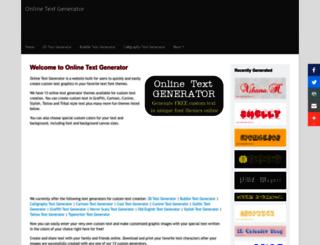 onlinetextgenerator.com screenshot