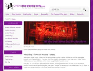 onlinetheatretickets.com screenshot