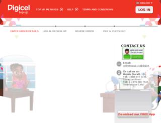 onlinetopup.digicelgroup.com screenshot