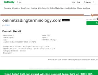 onlinetradingterminology.com screenshot