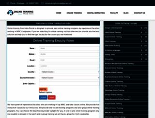onlinetrainingfromindia.com screenshot