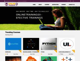 onlinetrainings9.com screenshot