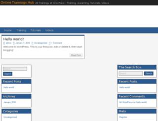 onlinetrainingshub.com screenshot