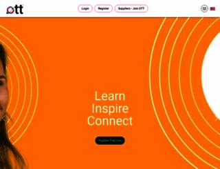 onlinetraveltraining.com screenshot