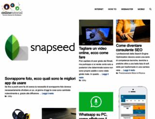 onlinetutorial.it screenshot