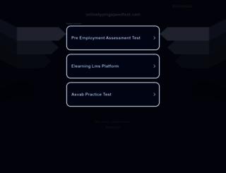 onlinetypingspeedtest.com screenshot