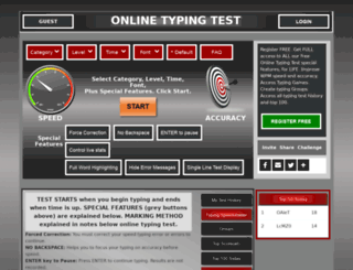 onlinetypingtest.net screenshot