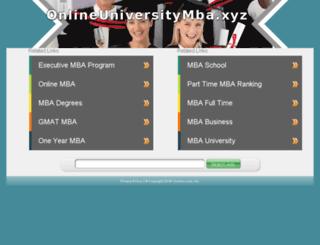onlineuniversitymba.xyz screenshot