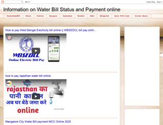 onlinewaterbills.blogspot.in screenshot
