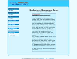 onlinewebservice.de screenshot