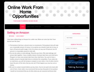 onlineworkfromhomeopportunities.com screenshot