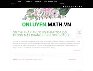 onluyentoan.com screenshot