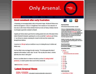 onlyarsenalnews.com screenshot