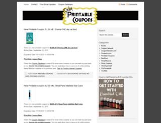 onlyfreeprintablecoupons.com screenshot