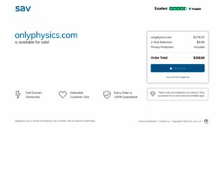onlyphysics.com screenshot