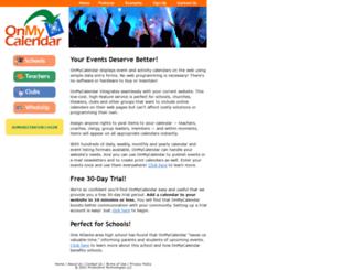 onmycalendar.com screenshot