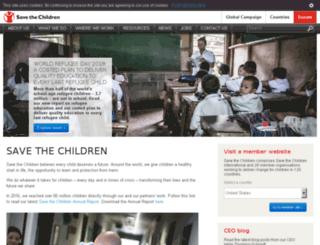 onnet.savethechildren.net screenshot