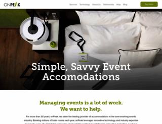 onpeak.com screenshot