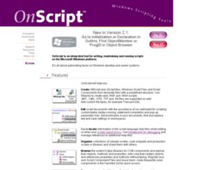 onscript.com screenshot