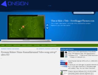 onsign.blogspot.com screenshot