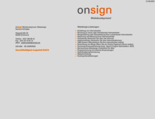 onsign.de screenshot