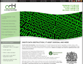 onsitedatadestruction.co.uk screenshot