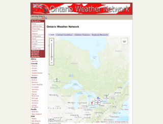 ontario-weather.net screenshot