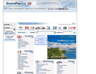 ontario.domepac.com screenshot