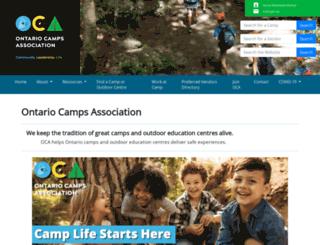 ontariocamps.ca screenshot