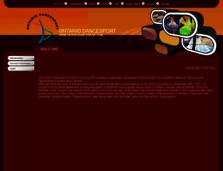 ontariodancesport.com screenshot