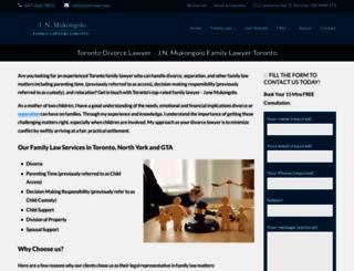 ontariodivorces.com screenshot