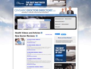 ontariodoctordirectory.ca screenshot