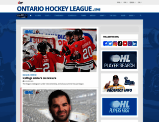 ontariohockeyleague.com screenshot