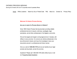 ontarioprocessserving.com screenshot