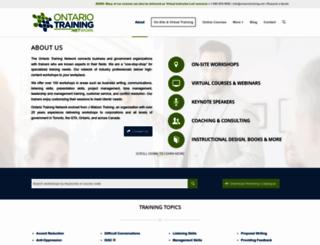 ontariotraining.net screenshot