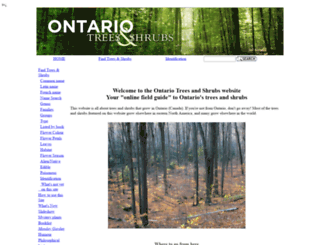 ontariotrees.com screenshot