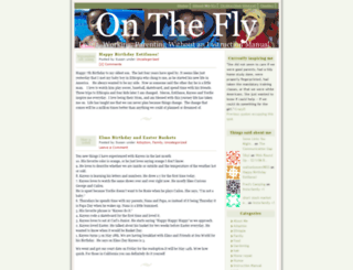 onthefly.wordpress.com screenshot