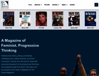 ontheissuesmagazine.com screenshot