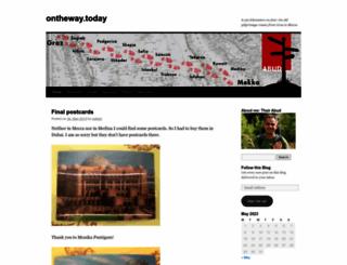 onthewaytoday.wordpress.com screenshot