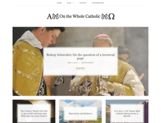 onthewholecatholic.com screenshot