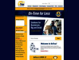 ontrac.com screenshot