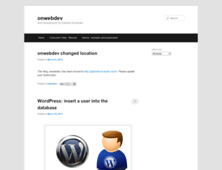 onwebdev.blogspot.com screenshot