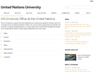 ony.unu.edu screenshot