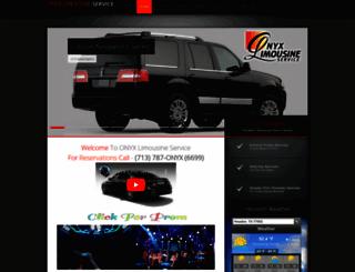 onyxlimoinhouston.com screenshot