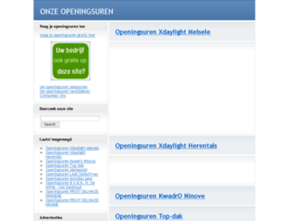 onzeopeningsuren.be screenshot