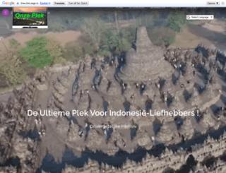 onzeplek.nl screenshot