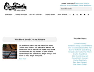 oombawkadesigncrochet.com screenshot