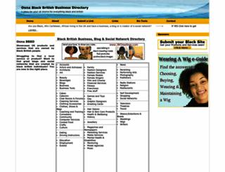 oonablackbritishbusinessdirectory.com screenshot