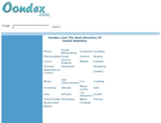 oondex.com screenshot