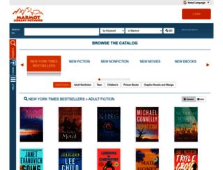opac.marmot.org screenshot